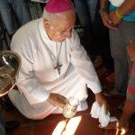 Junto à PCr, bispo de Coxim (MS) celebra Lava-pés com os presos