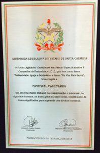 Interna homenagem PCr Santa Catarina