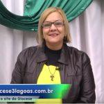 Coordenadora da PCr da Diocese de Três Lagoas (MS) participa de programa de TV