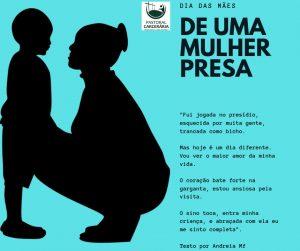 Agentes da Pastoral Carcerária realizaram na véspera do dia das mães a Celebração da Palavra no Estabelecimento Penal Feminino de Três Lagoas.